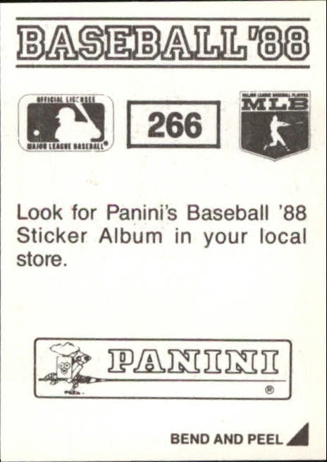 thumbnail 27 - 1988 Panini Stickers Baseball Cards 250-480 (A4394) - You Pick - 10+ FREE SHIP