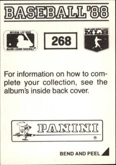thumbnail 31 - 1988 Panini Stickers Baseball Cards 250-480 (A4394) - You Pick - 10+ FREE SHIP