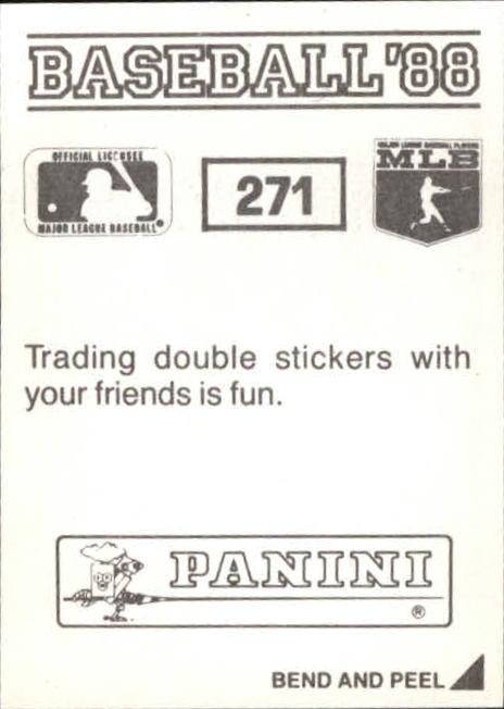 thumbnail 35 - 1988 Panini Stickers Baseball Cards 250-480 (A4394) - You Pick - 10+ FREE SHIP