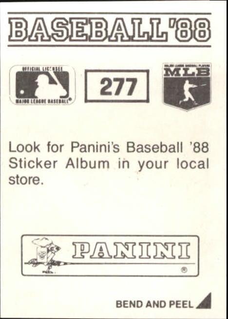 thumbnail 47 - 1988 Panini Stickers Baseball Cards 250-480 (A4394) - You Pick - 10+ FREE SHIP