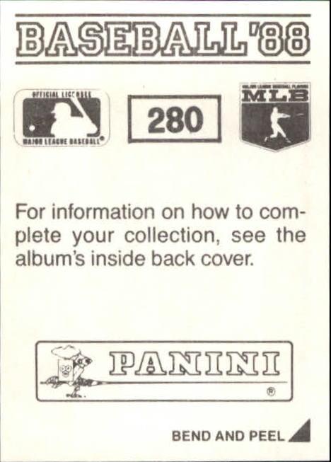 thumbnail 53 - 1988 Panini Stickers Baseball Cards 250-480 (A4394) - You Pick - 10+ FREE SHIP