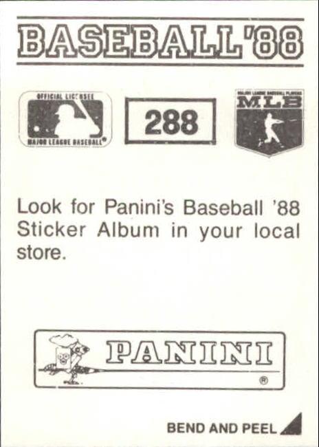 thumbnail 65 - 1988 Panini Stickers Baseball Cards 250-480 (A4394) - You Pick - 10+ FREE SHIP