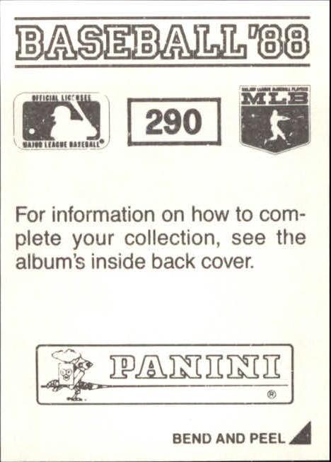 thumbnail 69 - 1988 Panini Stickers Baseball Cards 250-480 (A4394) - You Pick - 10+ FREE SHIP