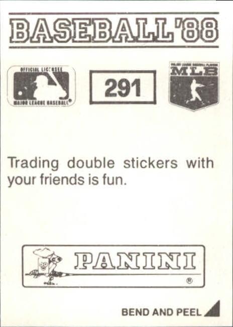 thumbnail 71 - 1988 Panini Stickers Baseball Cards 250-480 (A4394) - You Pick - 10+ FREE SHIP