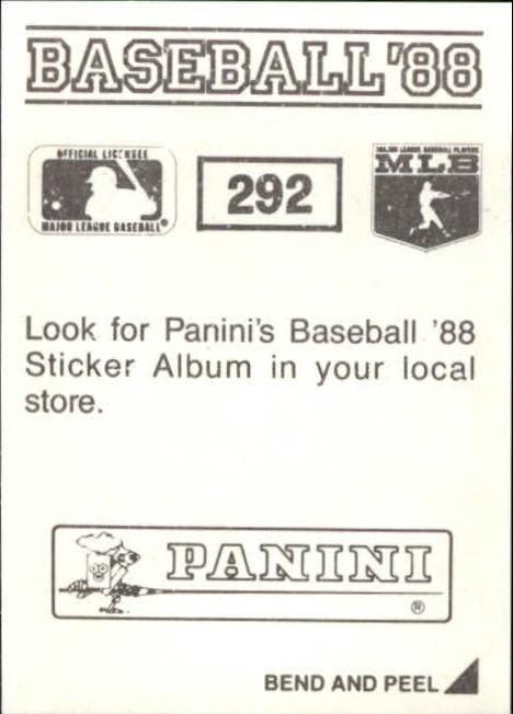 thumbnail 73 - 1988 Panini Stickers Baseball Cards 250-480 (A4394) - You Pick - 10+ FREE SHIP