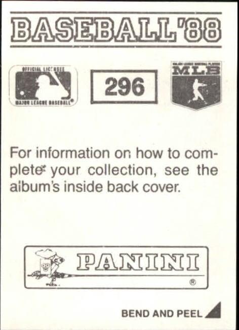 thumbnail 77 - 1988 Panini Stickers Baseball Cards 250-480 (A4394) - You Pick - 10+ FREE SHIP