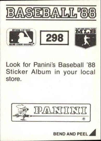 thumbnail 79 - 1988 Panini Stickers Baseball Cards 250-480 (A4394) - You Pick - 10+ FREE SHIP