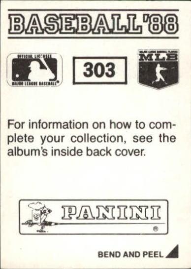 thumbnail 85 - 1988 Panini Stickers Baseball Cards 250-480 (A4394) - You Pick - 10+ FREE SHIP