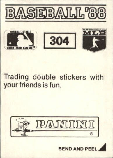 thumbnail 87 - 1988 Panini Stickers Baseball Cards 250-480 (A4394) - You Pick - 10+ FREE SHIP