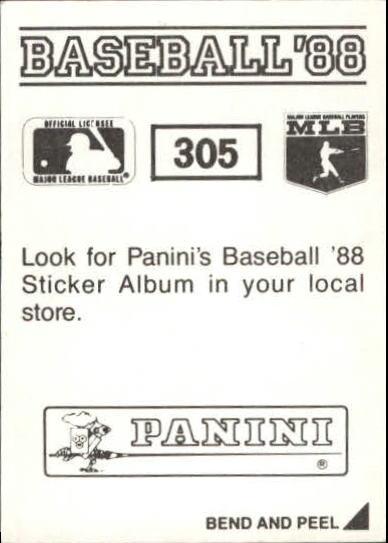 thumbnail 89 - 1988 Panini Stickers Baseball Cards 250-480 (A4394) - You Pick - 10+ FREE SHIP