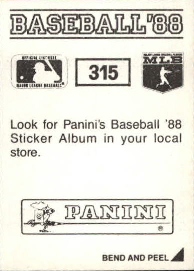 thumbnail 105 - 1988 Panini Stickers Baseball Cards 250-480 (A4394) - You Pick - 10+ FREE SHIP