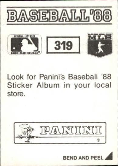 thumbnail 111 - 1988 Panini Stickers Baseball Cards 250-480 (A4394) - You Pick - 10+ FREE SHIP
