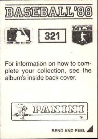 thumbnail 115 - 1988 Panini Stickers Baseball Cards 250-480 (A4394) - You Pick - 10+ FREE SHIP