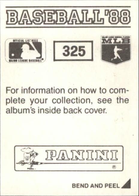 thumbnail 121 - 1988 Panini Stickers Baseball Cards 250-480 (A4394) - You Pick - 10+ FREE SHIP