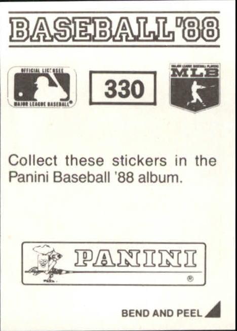 thumbnail 127 - 1988 Panini Stickers Baseball Cards 250-480 (A4394) - You Pick - 10+ FREE SHIP