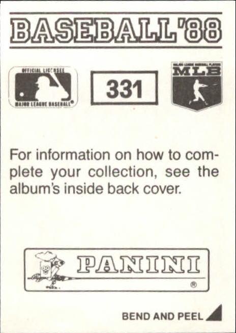 thumbnail 129 - 1988 Panini Stickers Baseball Cards 250-480 (A4394) - You Pick - 10+ FREE SHIP