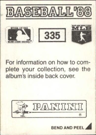 thumbnail 135 - 1988 Panini Stickers Baseball Cards 250-480 (A4394) - You Pick - 10+ FREE SHIP