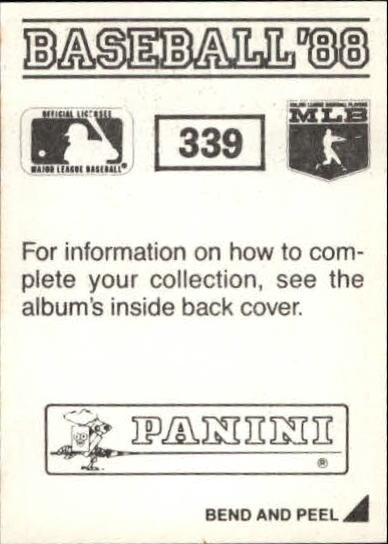 thumbnail 143 - 1988 Panini Stickers Baseball Cards 250-480 (A4394) - You Pick - 10+ FREE SHIP