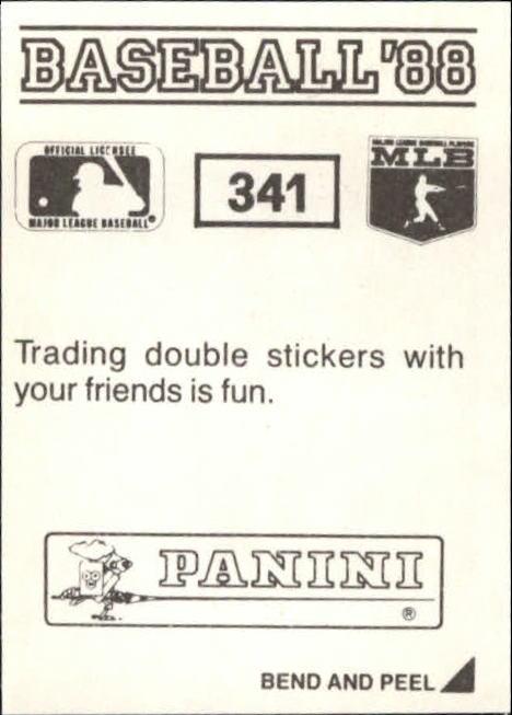 thumbnail 145 - 1988 Panini Stickers Baseball Cards 250-480 (A4394) - You Pick - 10+ FREE SHIP