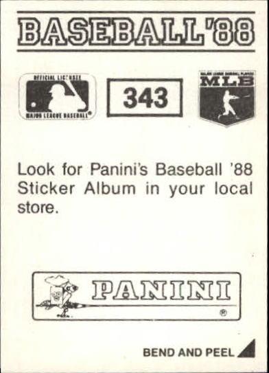 thumbnail 149 - 1988 Panini Stickers Baseball Cards 250-480 (A4394) - You Pick - 10+ FREE SHIP