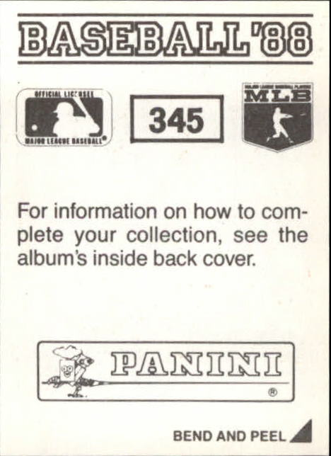 thumbnail 153 - 1988 Panini Stickers Baseball Cards 250-480 (A4394) - You Pick - 10+ FREE SHIP