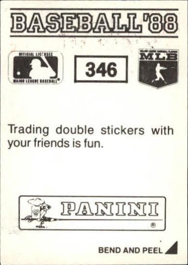 thumbnail 155 - 1988 Panini Stickers Baseball Cards 250-480 (A4394) - You Pick - 10+ FREE SHIP