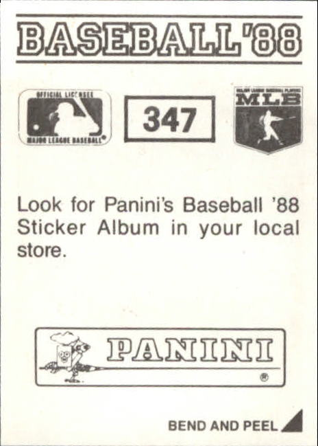 thumbnail 157 - 1988 Panini Stickers Baseball Cards 250-480 (A4394) - You Pick - 10+ FREE SHIP