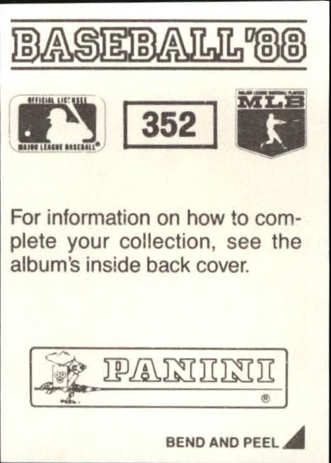 thumbnail 163 - 1988 Panini Stickers Baseball Cards 250-480 (A4394) - You Pick - 10+ FREE SHIP