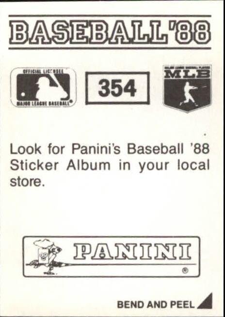 thumbnail 165 - 1988 Panini Stickers Baseball Cards 250-480 (A4394) - You Pick - 10+ FREE SHIP