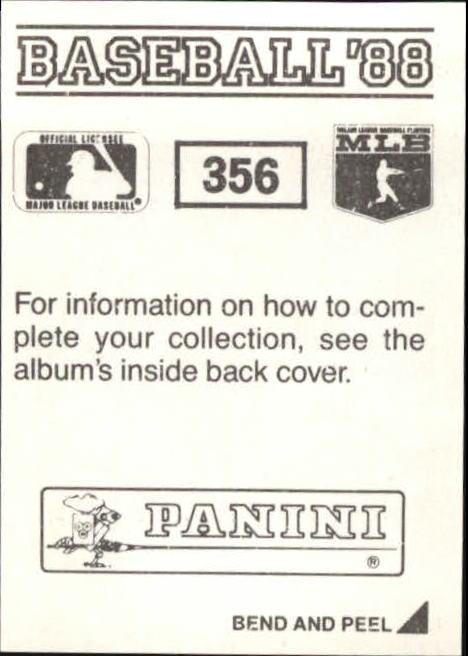 thumbnail 169 - 1988 Panini Stickers Baseball Cards 250-480 (A4394) - You Pick - 10+ FREE SHIP