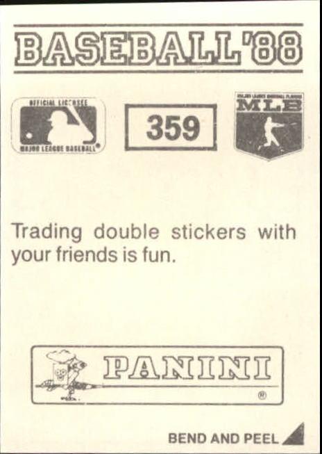 thumbnail 173 - 1988 Panini Stickers Baseball Cards 250-480 (A4394) - You Pick - 10+ FREE SHIP