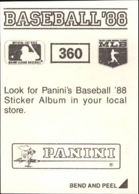 thumbnail 175 - 1988 Panini Stickers Baseball Cards 250-480 (A4394) - You Pick - 10+ FREE SHIP
