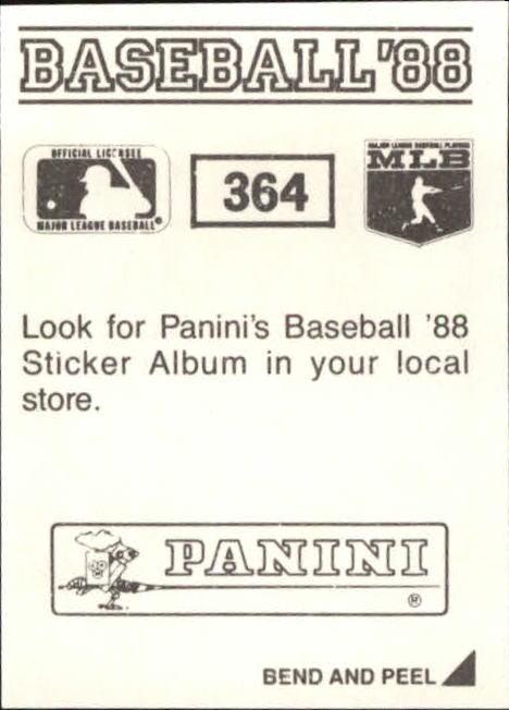thumbnail 183 - 1988 Panini Stickers Baseball Cards 250-480 (A4394) - You Pick - 10+ FREE SHIP