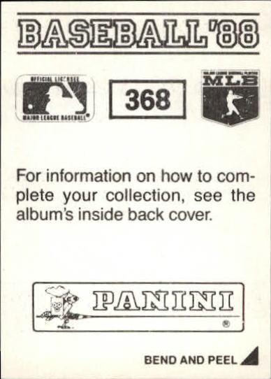 thumbnail 189 - 1988 Panini Stickers Baseball Cards 250-480 (A4394) - You Pick - 10+ FREE SHIP