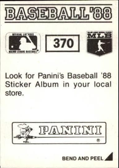 thumbnail 191 - 1988 Panini Stickers Baseball Cards 250-480 (A4394) - You Pick - 10+ FREE SHIP