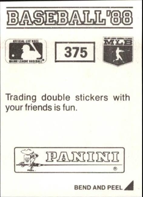 thumbnail 195 - 1988 Panini Stickers Baseball Cards 250-480 (A4394) - You Pick - 10+ FREE SHIP