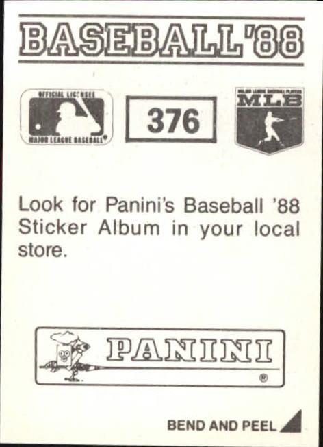 thumbnail 197 - 1988 Panini Stickers Baseball Cards 250-480 (A4394) - You Pick - 10+ FREE SHIP
