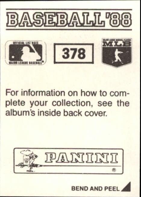 thumbnail 201 - 1988 Panini Stickers Baseball Cards 250-480 (A4394) - You Pick - 10+ FREE SHIP