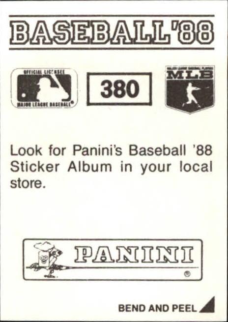 thumbnail 205 - 1988 Panini Stickers Baseball Cards 250-480 (A4394) - You Pick - 10+ FREE SHIP
