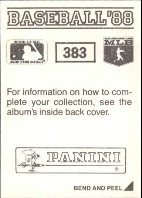 thumbnail 209 - 1988 Panini Stickers Baseball Cards 250-480 (A4394) - You Pick - 10+ FREE SHIP