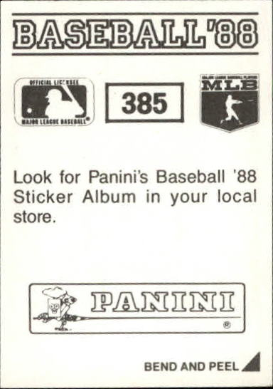 thumbnail 213 - 1988 Panini Stickers Baseball Cards 250-480 (A4394) - You Pick - 10+ FREE SHIP