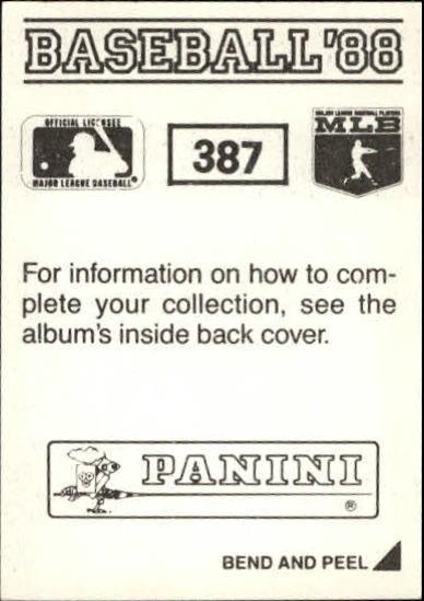 thumbnail 215 - 1988 Panini Stickers Baseball Cards 250-480 (A4394) - You Pick - 10+ FREE SHIP