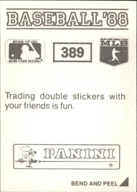 thumbnail 219 - 1988 Panini Stickers Baseball Cards 250-480 (A4394) - You Pick - 10+ FREE SHIP