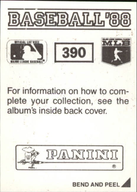 thumbnail 221 - 1988 Panini Stickers Baseball Cards 250-480 (A4394) - You Pick - 10+ FREE SHIP