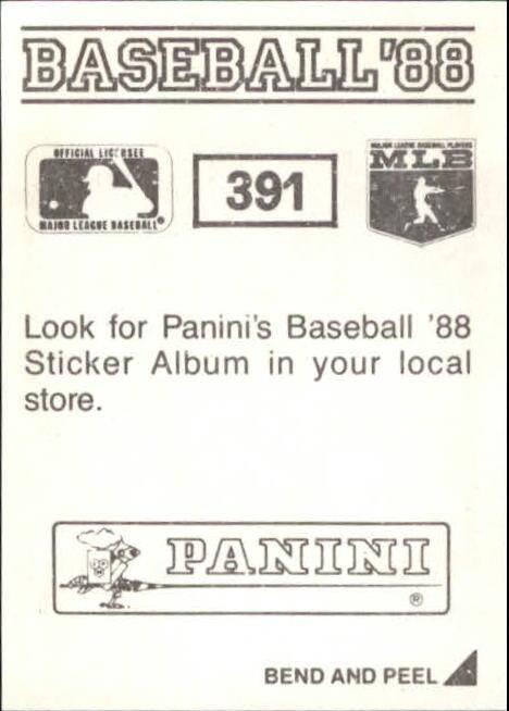 thumbnail 223 - 1988 Panini Stickers Baseball Cards 250-480 (A4394) - You Pick - 10+ FREE SHIP