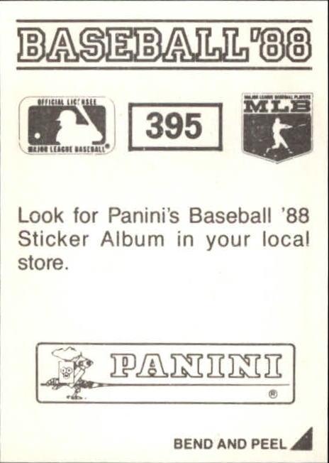 thumbnail 225 - 1988 Panini Stickers Baseball Cards 250-480 (A4394) - You Pick - 10+ FREE SHIP
