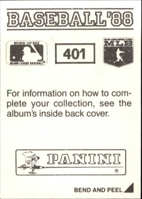 thumbnail 231 - 1988 Panini Stickers Baseball Cards 250-480 (A4394) - You Pick - 10+ FREE SHIP
