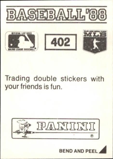 thumbnail 233 - 1988 Panini Stickers Baseball Cards 250-480 (A4394) - You Pick - 10+ FREE SHIP