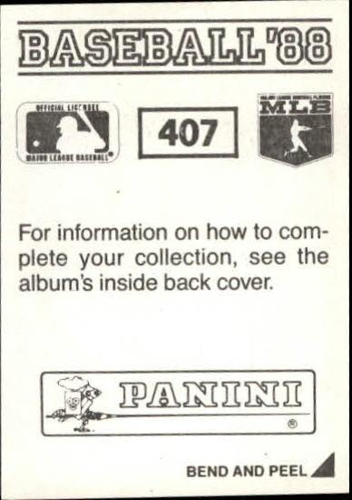thumbnail 239 - 1988 Panini Stickers Baseball Cards 250-480 (A4394) - You Pick - 10+ FREE SHIP