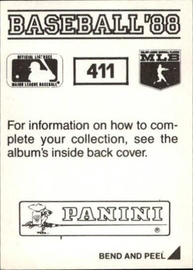 thumbnail 245 - 1988 Panini Stickers Baseball Cards 250-480 (A4394) - You Pick - 10+ FREE SHIP
